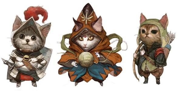 Koty tło